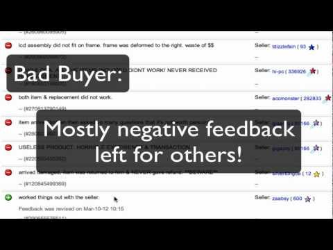 How to Spot a Bad Buyer on Ebay