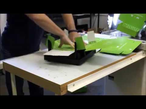 Corrugated Mailer Easy Fold Box Folding Machine, Jig, Fixture. Folding 9 Subscription Boxes 53 Sec