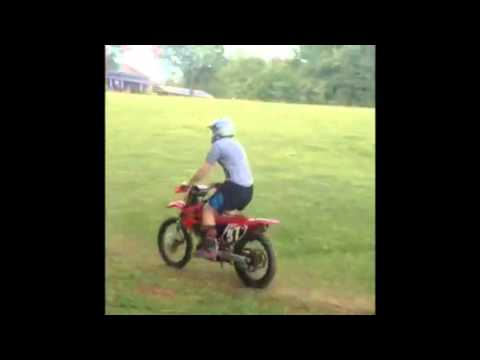 Back yard dirt bike jumps