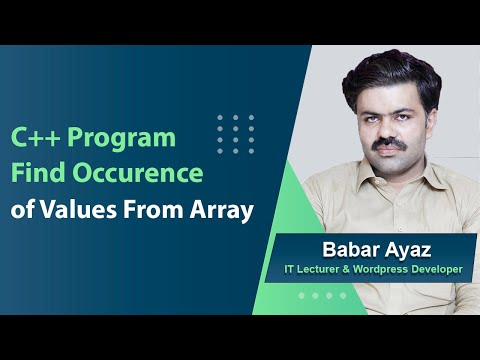 21  c++ program to count occurrence of values in array urdu tutorial