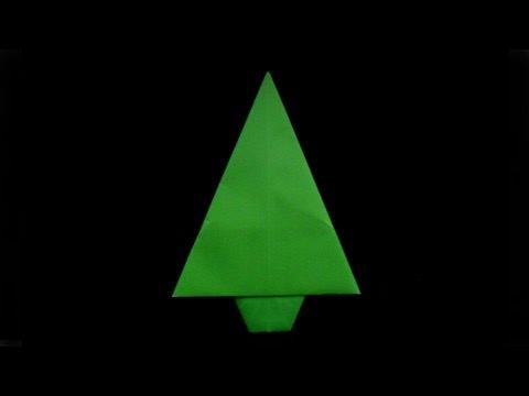 como se hace un pino origami_how to make a origami pine tree