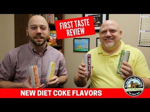 NEW Diet Coke Flavors: Lime, Mango, Orange, Cherry - First Taste Review