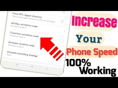 How to Increase android phone speed 100% by transition animation scale & window animation scale