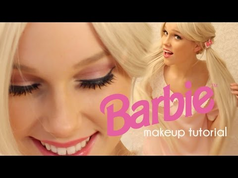 Barbie makeup tutorial | Easy and cute doll halloween costume