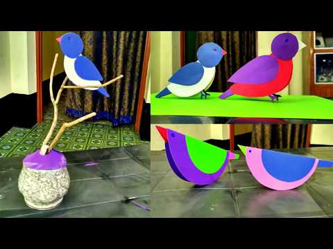 decoration ideas  | How to make paper birds for room  decoration
