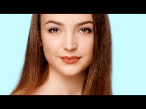 Easy makeup look for girls with DOWNTURNED DEEP SET hazel eyes and brown hair