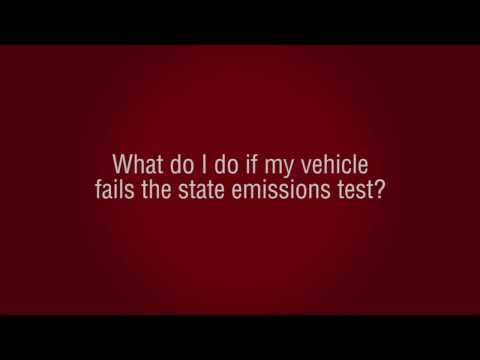 What do I do if my vehicle fails the state emissions test?