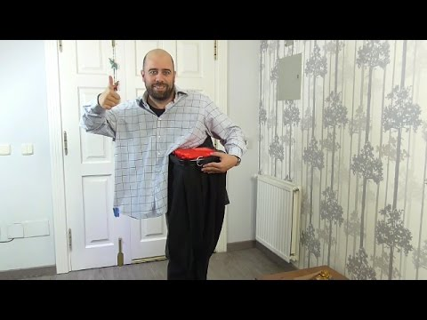 Last Minute Halloween Costume | Divided man costume
