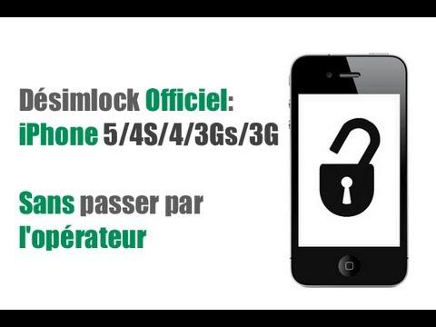 Désimlocker Officiellement(Unlock Officiel) l'iPhone SANS JAILBREAK et SANS l'OPERATEUR!