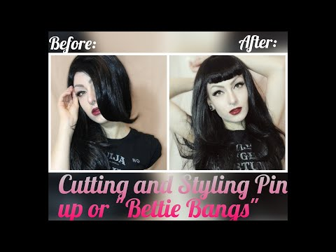 Cutting/ Styling Pin up/ Bettie Bangs on a wig