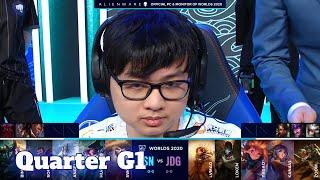 SN vs JDG - Game 1 | Quarter Finals S10 LoL Worlds 2020 PlayOffs | Suning vs JD Gaming G1 full game