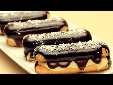 Ladyfingers Eclair Recipe - Chocolate Ladyfingers Dessert