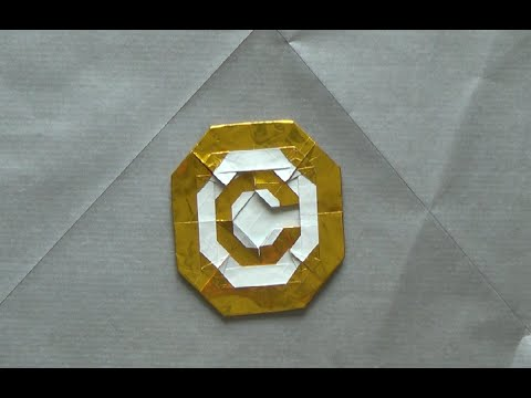 Origami Copyright Sign by Morisue Kei/ 森末圭 (TUTORIAL)