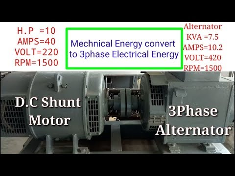 3Phase Alternator working principle of operation in tamil