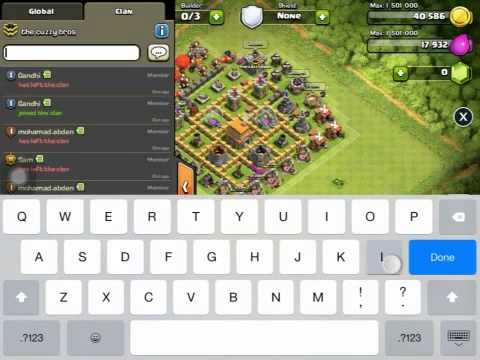 Clash of clans unlimited troop(xmod) for IOS