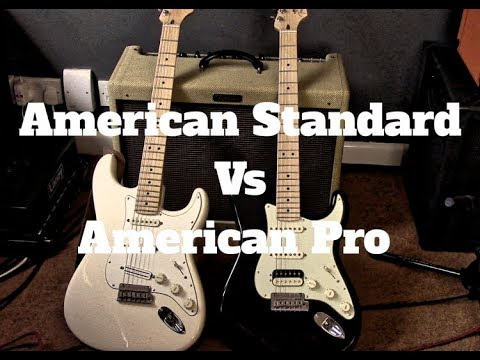 American Professional Stratocaster Vs USA Standard Strat Shootout