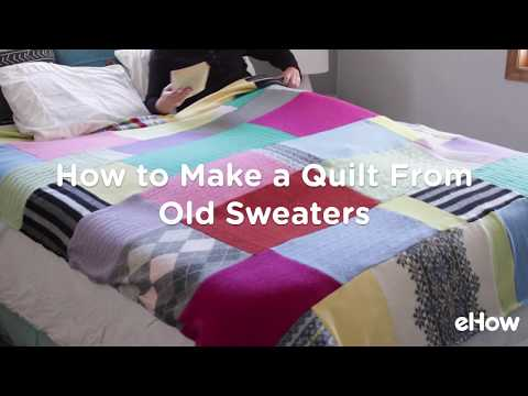 How to Make a Quilt from Old Sweaters