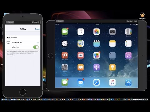 AirPlay Mirroring to your Mac from iPad or iPhone- IOS 9