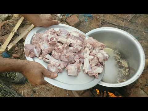 Cooking 5kg Mutton Biryani Muslim style cooking