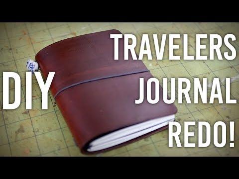 How to Make Traveler's Notebook Journal - Redo