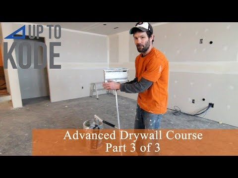 Advanced Drywall Course Part 3 : Coat on Angles and 3-Ways