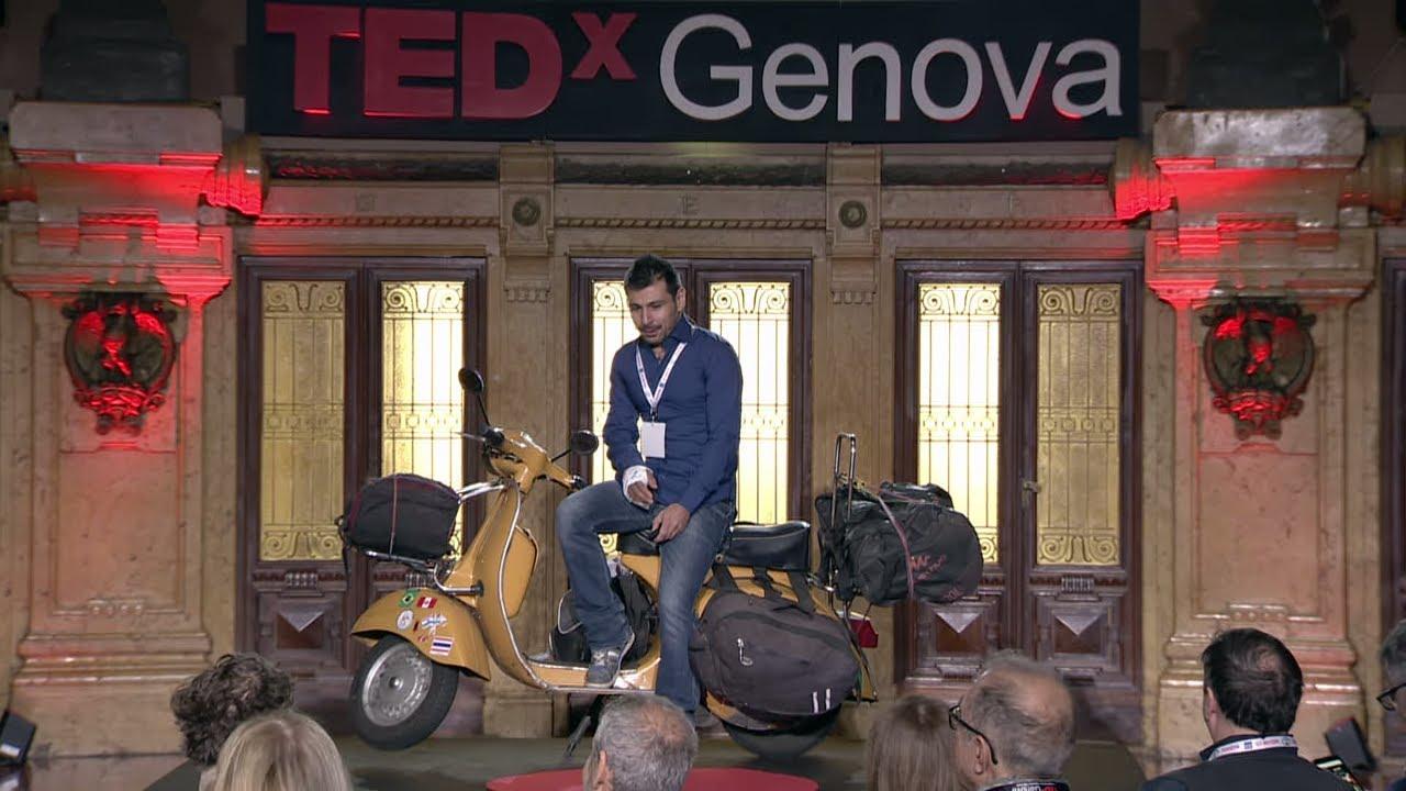 Il giro del mondo in vespa | Luca Capocchiano | TEDxGenova