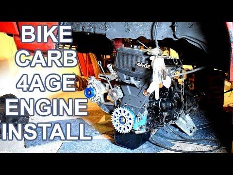 Bike carb 4age engine install - caveman style