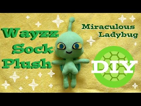 ❤ DIY Wayzz Sock Plush! A Miraculous Ladybug Turtle Kwami Plushie Tutorial! ❤