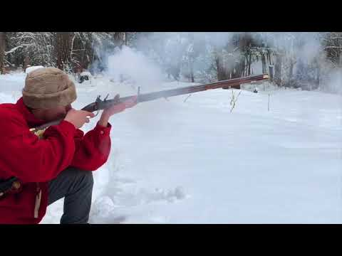 Jacob Dickert Rifle, Winter Woods.