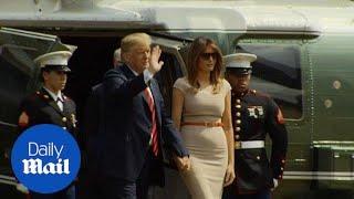 President Trump arrives at US ambassador