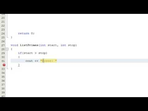 How to Determine if a Number is a Prime Number by Writing a Computer Program , C++ , Part 3