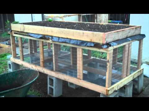 Building a Raised Bed / Rabbit Hutch Part 2