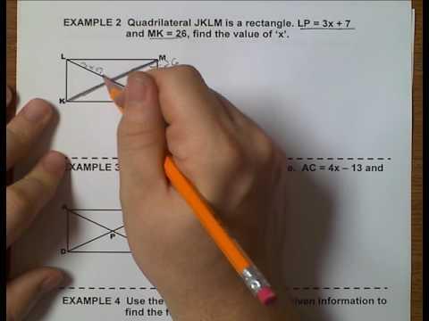 Geometry (Topic 6-2) Rectangles