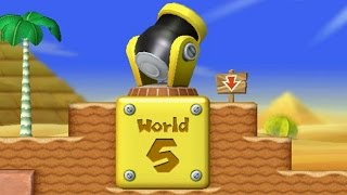 New Super Mario Bros  Wii - World 5 - Warp Cannon - Tube5x site
