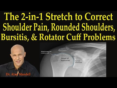2-in-1 Stretch to Correct Shoulder Pain, Rounded Shoulders, Bursitis, Rotator Cuff - Dr Mandell