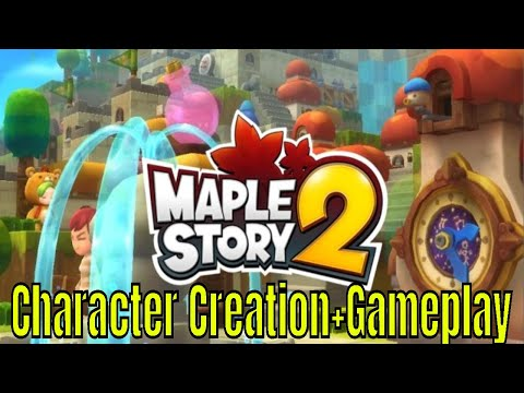 Maple Story 2: Character Creation Intro Gameplay CBT