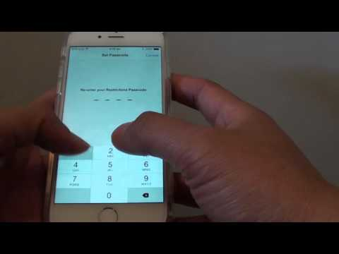 iPhone 6: How to Enable / Disable App Usage Restriction