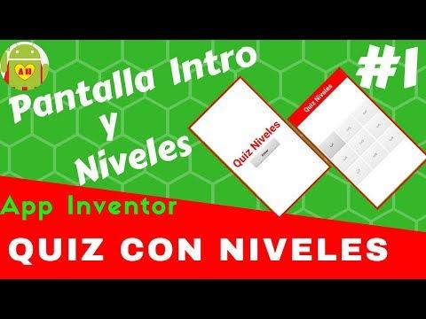 Quiz Con Niveles Pantalla Intro y Niveles #1 | Tutoriales App Inventor | App Movil