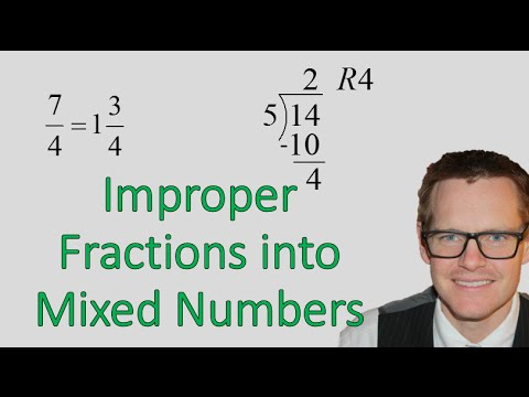 Improper Fractions into Mixed Numbers (Simplifying Math)