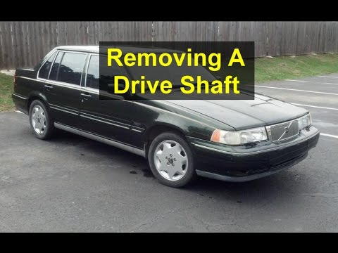 How to remove or install a drive shaft on a rear wheel drive vehicle, Volvo 960. - VOTD