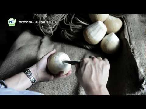 How to open coconut COCO Fresh for drink with straw by nccoconut