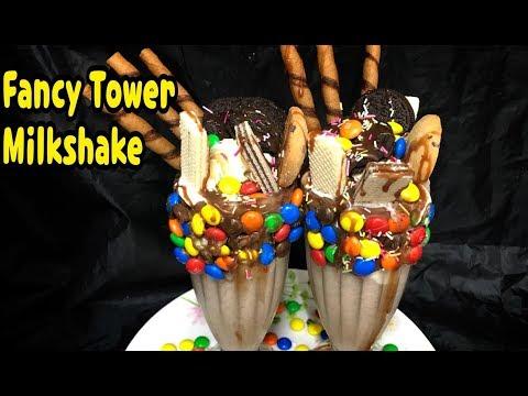 Fancy Tower Milkshake / UK Most Famous Milkshake  By Yasmin's Cooking
