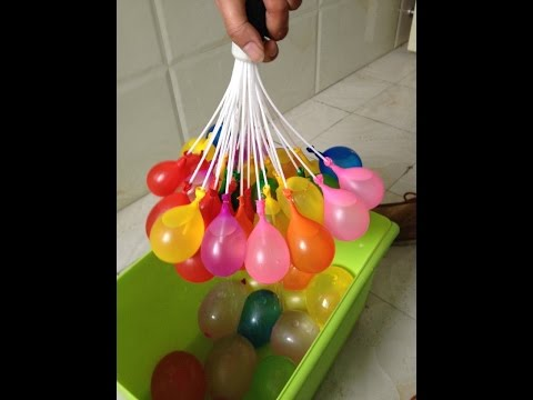 How to fill magic bunch of water balloons