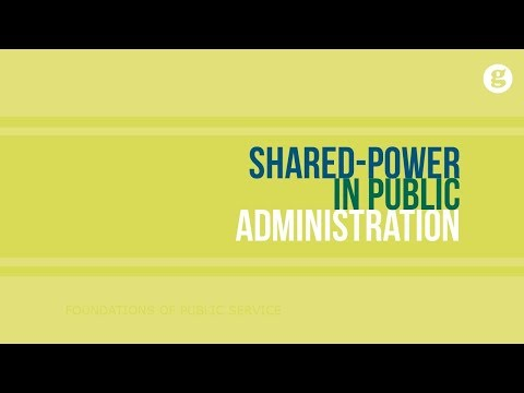 Shared Power in Public Administration