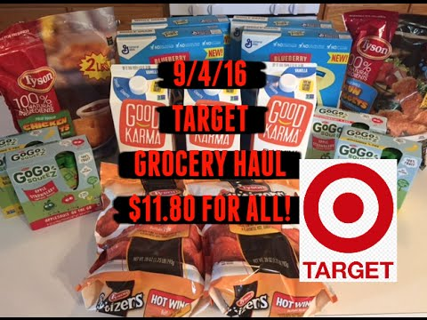 9/4/16 Target Grocery Haul...$11.80 for Everything!