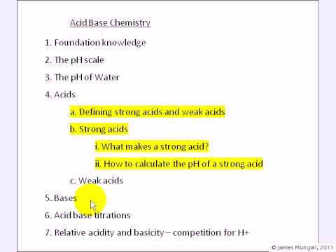 4a, b.Strong and Weak  Acids. pH of strong acids.