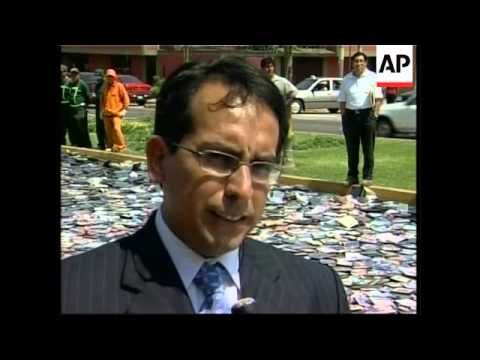 Thousands of illegal CDs and DVDs burned