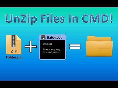 UnZip Zip Files In CMD! | Tips and Tricks! #5
