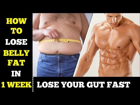 How To Lose Belly Fat In 1 Week |