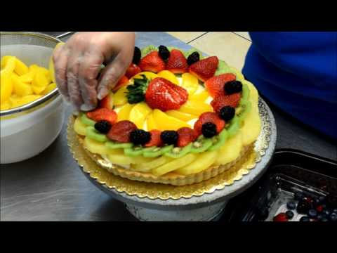 Making a Delicious Fruit Tart Cake